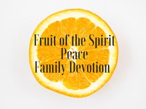 fruit of the spirit peace