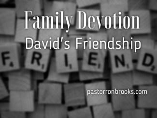david's friendship