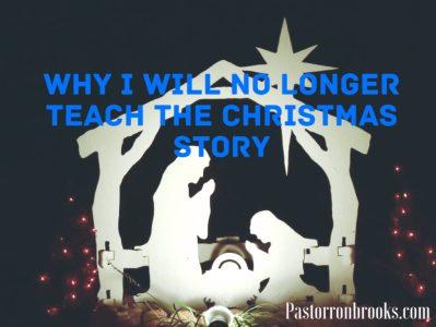I won't teach the christmas story anymore