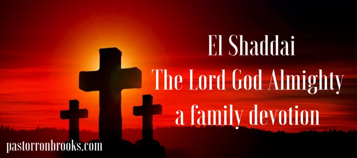 God Almighty Family Devotion