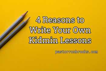 write your own kidmin lessons