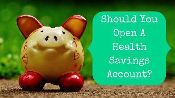 Picture of piggy bank with blog post title: are you wasting money without a health savings account?