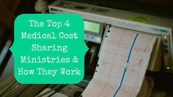 Picture of medical diagnostic equipment with blog post title: The Top 4 Medical Cost Sharing Ministries & How They Work