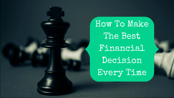 Picture of chess pieces with blog post title: How To Make The Best Financial Decision Every Time