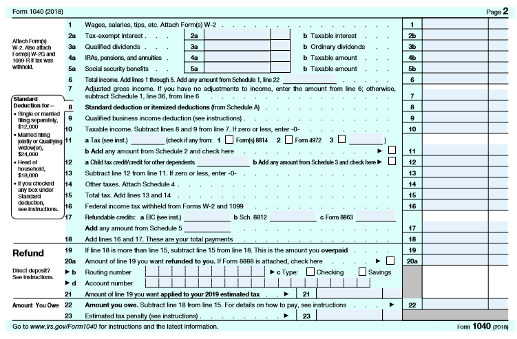 The 2018 Form 1040: How It Looks & What It Means For You