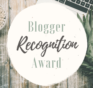 Blogger Recognition Award – A Belated Thank You!