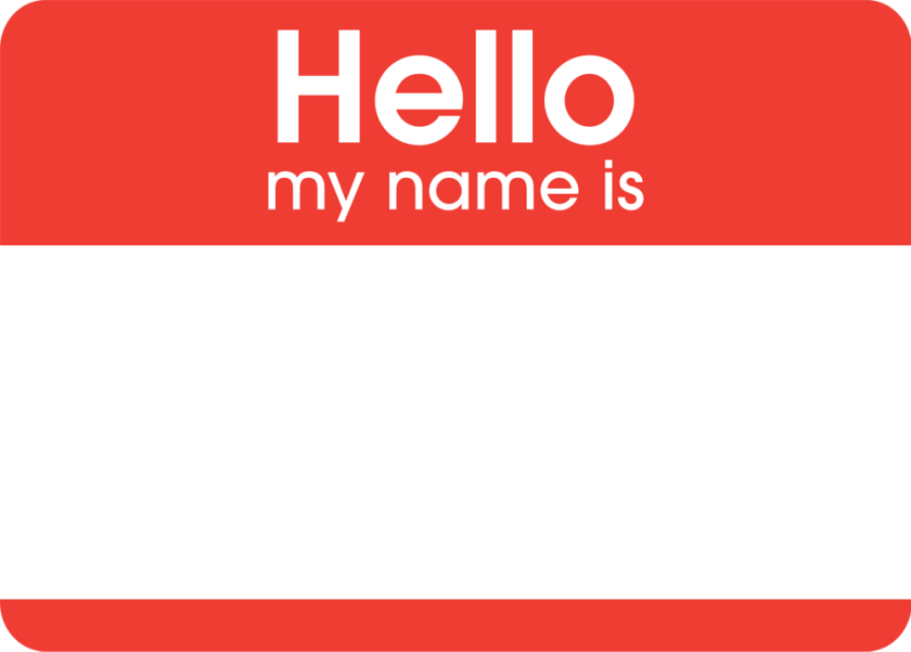 Hello Name Sticker