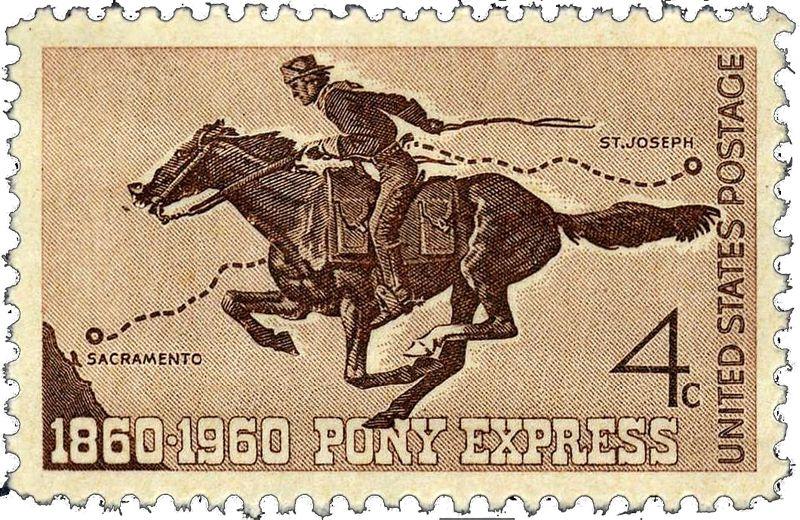 Pony Express Stamp