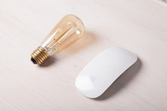 A lightbulb and a mouse