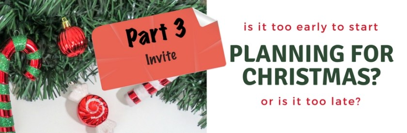 Planning for Christmas - Pt. 3 - Banner