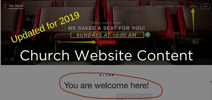 Church Website Content 2019