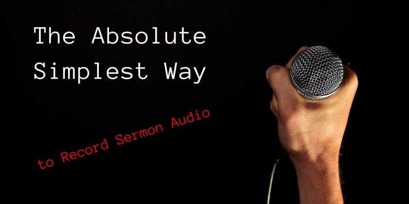 recording church audio