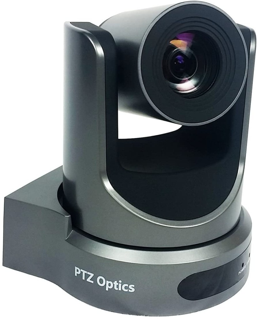 PTZ cameras, like this one from PTZ Optics, are very popular for church live streaming setups.