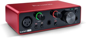 Focusrite Scarlett Solo for church live stream audio