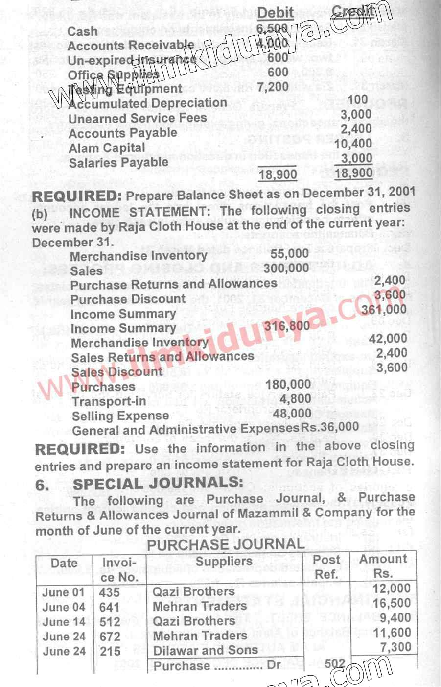 Past Papers 2002 Accounting Karachi Board ICom Part 1 Paper C