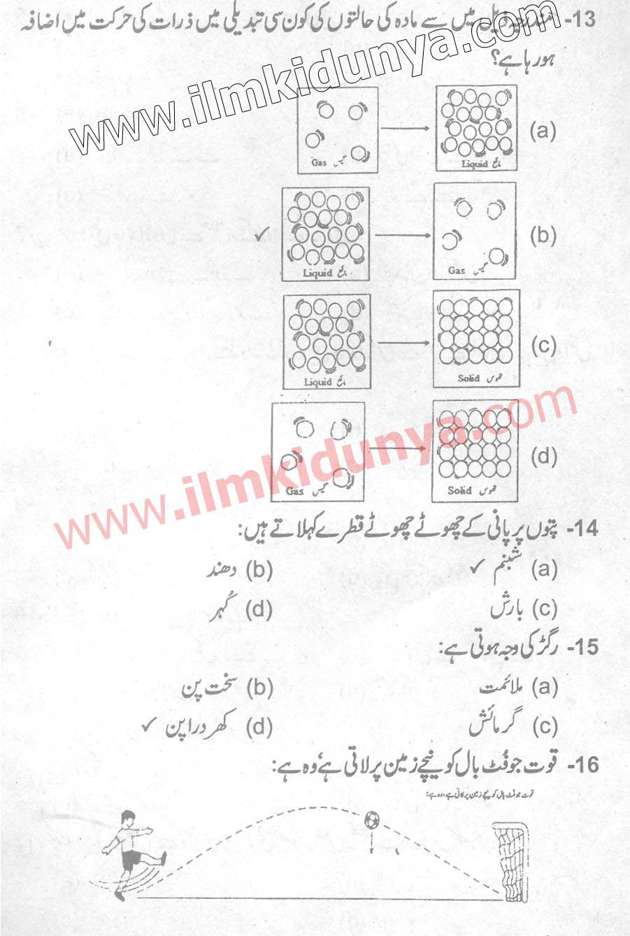 Punjab Examination Commission 5th Class Past Paper 2017