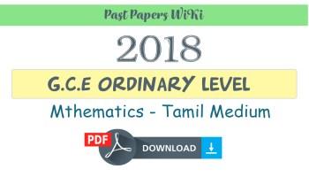 Grade 6 Mathematics First Term Paper 2018 | English medium - Past