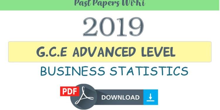 2019 A/L Business Statistics Model Paper