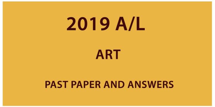 Download GCE A/L Art Past paper 2019