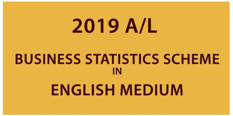 2019 AL Business statistics Scheme in English Medium