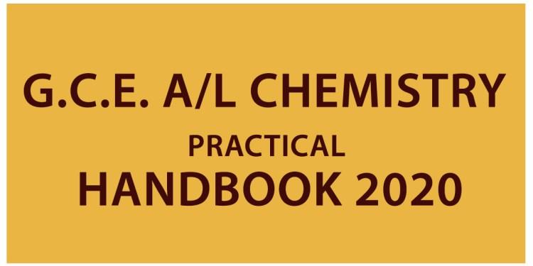 G.C.E. A/L Chemistry Practical Handbook 2020