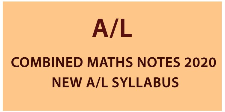 al combined maths notes