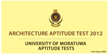 Architecture Aptitude Test 2012