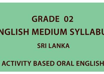Grade 02 English Medium Syllabus Sri Lanka