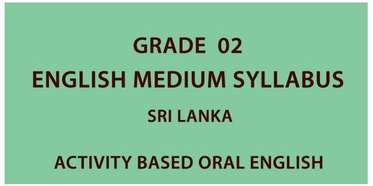 Grade 02 English Medium Syllabus Sri Lanka