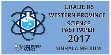 Download Grade 06  Science paper in 2017 Western province 3rd term test past paper in the Sinhala medium. You can download using the following link Below. It's free to download. Examination  -    School Term-test Grade             -    Grade 06 Subject           -    Science Medium         -    Sinhala Medium Term Test       -    3rd term Year                -    2017