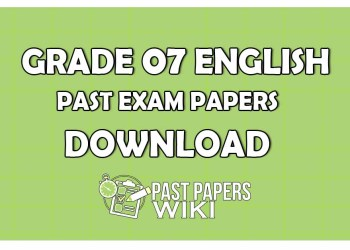 Grade 7 English Past Paper 2019