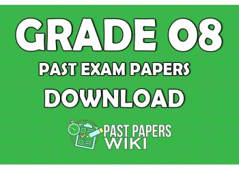 Grade 08 Past Exam Papers