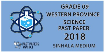 Grade 09 Science Past Paper in Sinhala Medium 2018 - 3rd Term Test