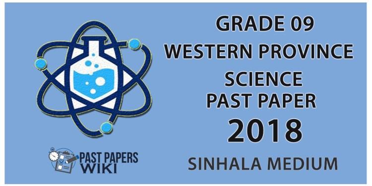 Grade 09 Science Past Paper in Sinhala Medium 2018 - 3rd Term Test