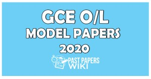O/L Model Papers 2020