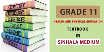 Grade 11 Health and Physical Education textbook in Sinhala Medium - New Syllabus