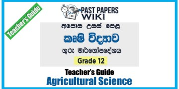 Grade 12 A/L Agricultural Science Teachers Guide