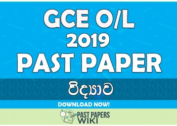 2019 O/L Science Past Paper | Sinhala Medium