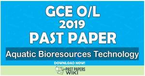 2019 O/L Aquatic Bioresources Technology Past Paper | Tamil Medium