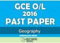 2016 O/L Geography Past Paper | Tamil Medium