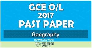 2017 O/L Geography Past Paper   Tamil Medium
