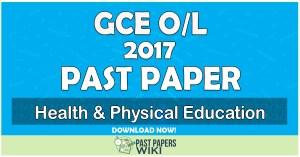 2017 O/L Health & Physical Education Past Paper   English Medium
