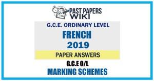 2019 O/L French Marking Scheme | English Medium