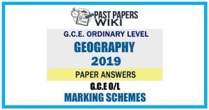 2019 O/L Geography Marking Scheme   English Medium