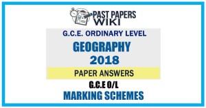 2018 O/L Geography Marking Scheme   Tamil Medium