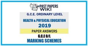 2019 O/L Health & Physical Education Marking Scheme   English Medium
