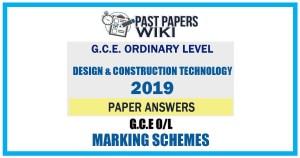 2019 O/L Design & Construction Technology Marking Scheme   Tamil Medium
