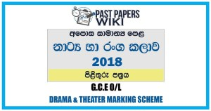 2018 O/L Drama & Theater Marking Scheme | Sinhala Medium
