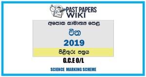 2019 O/L Chinese Marking Scheme | Sinhala Medium