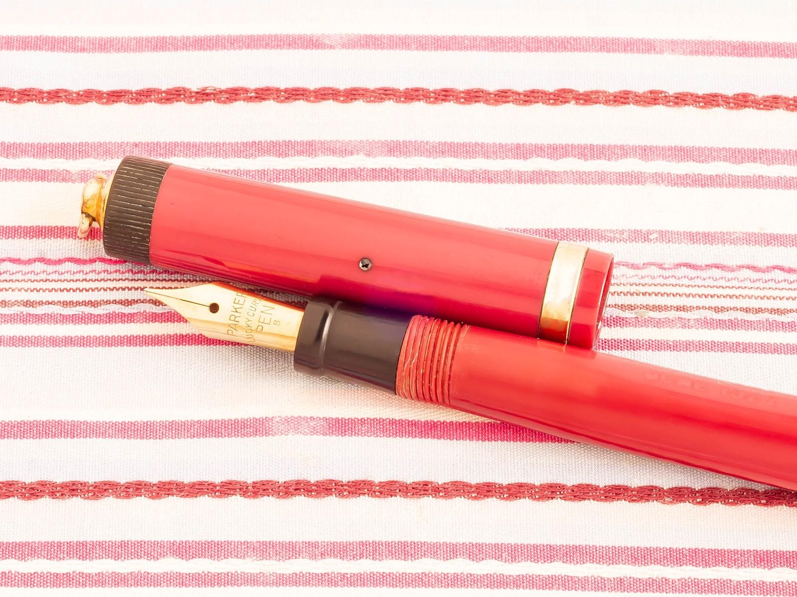 vintage parker pastel magenta fountain pen pencil set